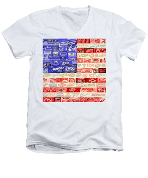 Food Advertising Flag Men's V-Neck T-Shirt
