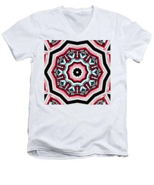 Food Mixer Mandala Men's V-Neck T-Shirt by Andy Prendy