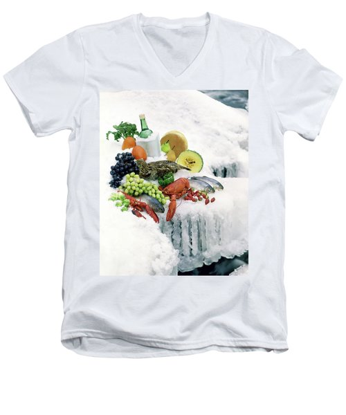 Food On Ice Men's V-Neck T-Shirt