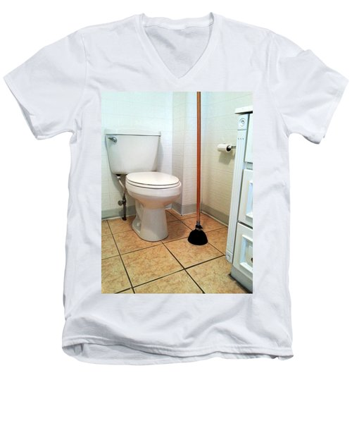 For The Big Jobs. Men's V-Neck T-Shirt by Lon Casler Bixby