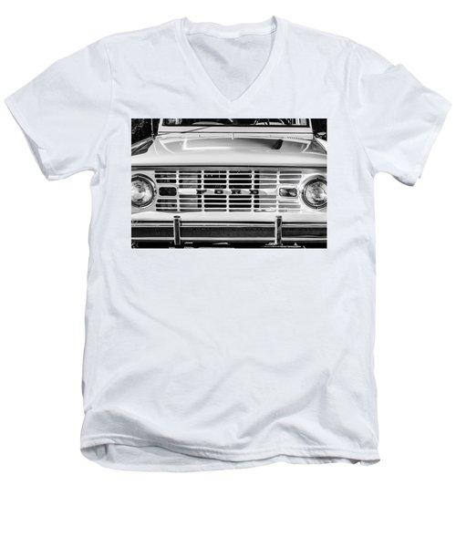 Ford Bronco Grille Emblem -0014bw Men's V-Neck T-Shirt