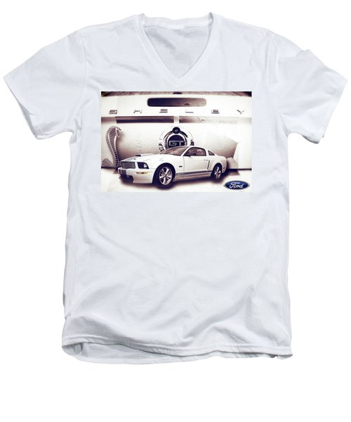 Ford Mustang Shelby Gt  Men's V-Neck T-Shirt