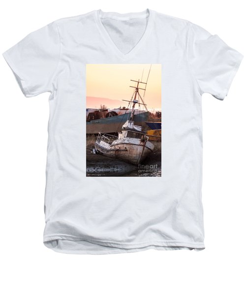 Men's V-Neck T-Shirt featuring the digital art Forgotten In Homer by William Fields