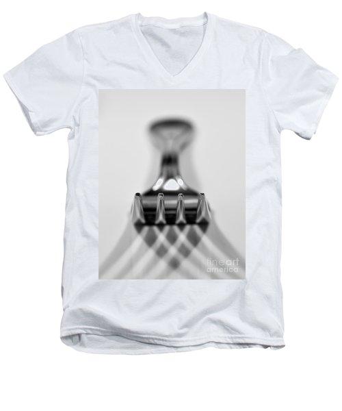 Fork Men's V-Neck T-Shirt by Douglas Stucky