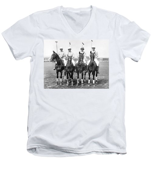 Fort Hamilton Polo Team Men's V-Neck T-Shirt
