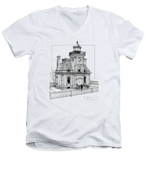 Fort Tompkins Lighthouse Men's V-Neck T-Shirt