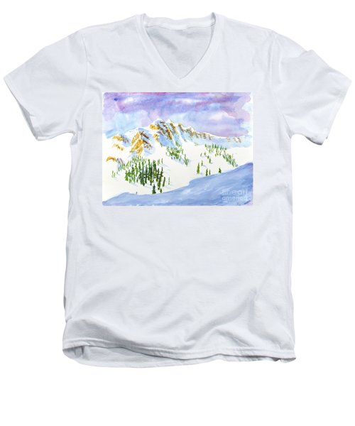 Four Sisters At Snowbasin Men's V-Neck T-Shirt