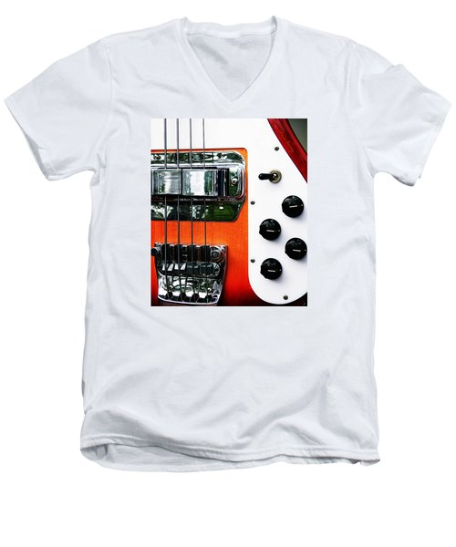 Four String Rickenbacker Bass  Men's V-Neck T-Shirt