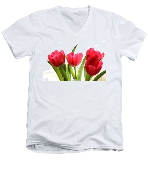 Four Tulips Men's V-Neck T-Shirt