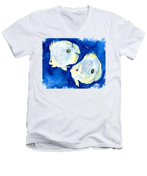 Foureye Butterflyfish Men's V-Neck T-Shirt