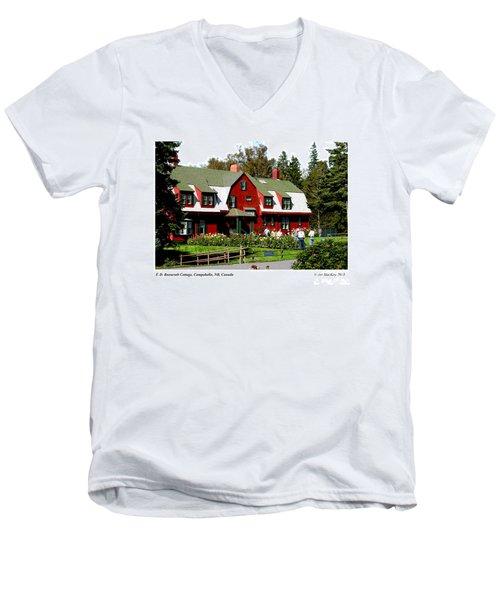 Franklin D. Roosevelt Cottage Campobello Nb Men's V-Neck T-Shirt