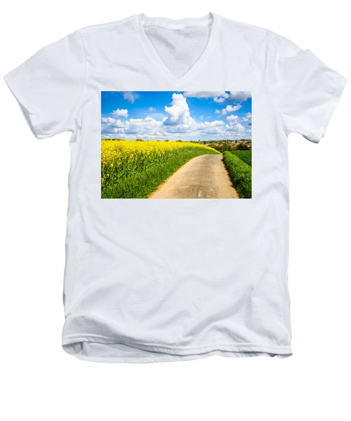 French Countryside Men's V-Neck T-Shirt