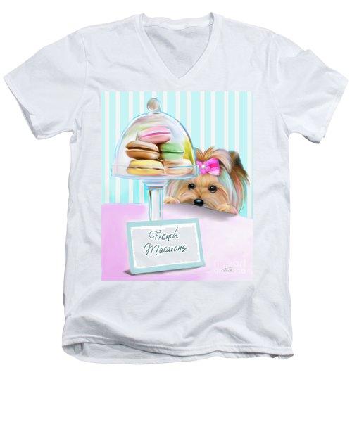 French Macarons Men's V-Neck T-Shirt