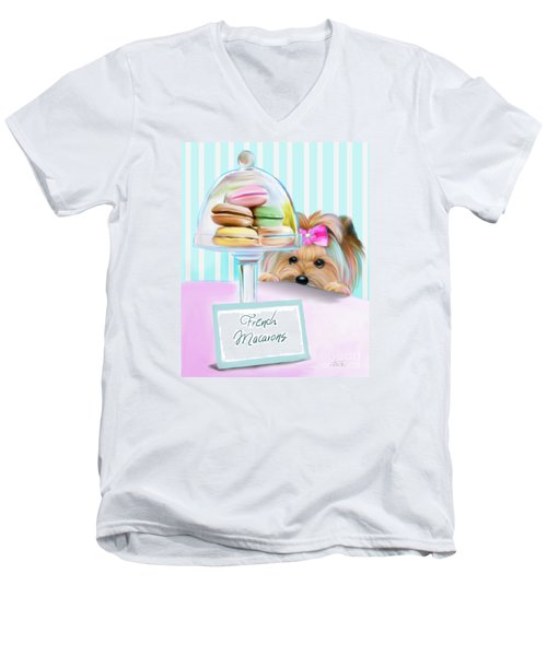 French Macarons Men's V-Neck T-Shirt