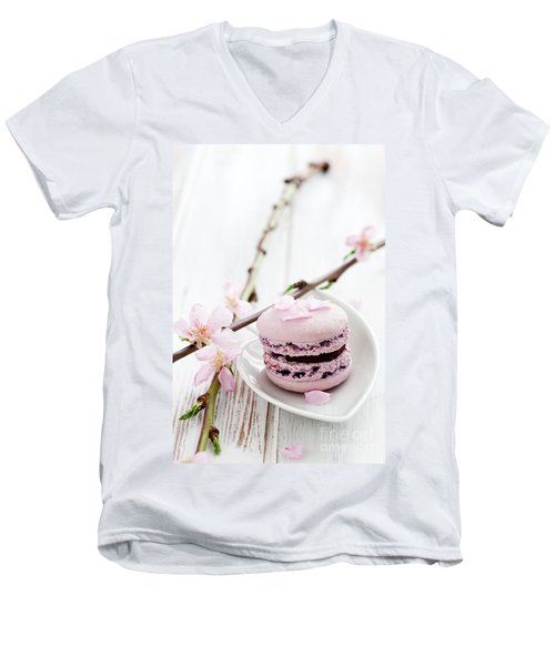 French Macaroons Men's V-Neck T-Shirt