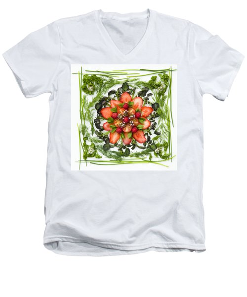 Fresh Fruit Salad Men's V-Neck T-Shirt by Anne Gilbert