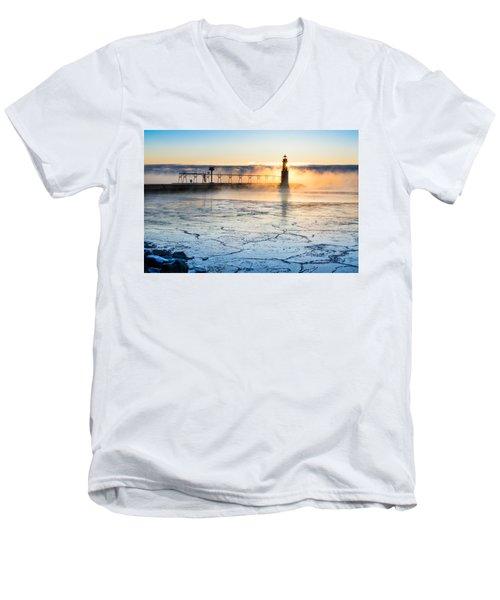 Frigid Sunrise Fog  Men's V-Neck T-Shirt