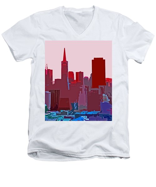 Frisco Skyline Men's V-Neck T-Shirt