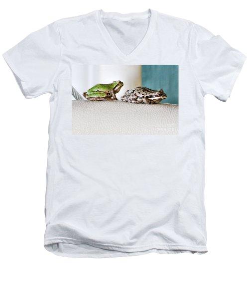 Frog Flatulence - A Case Study Men's V-Neck T-Shirt