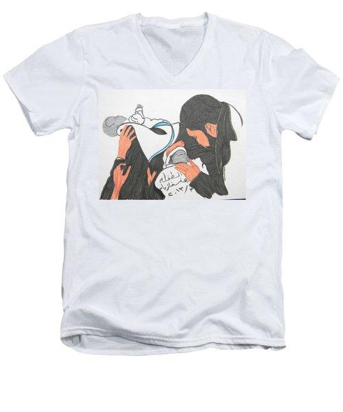 From Damascus To Homs Men's V-Neck T-Shirt