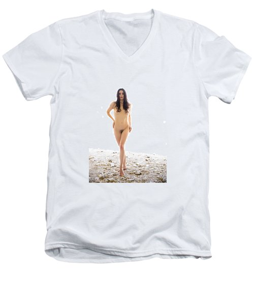 From The Beyond Men's V-Neck T-Shirt by Mez