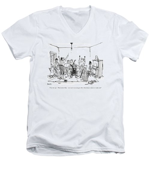 From The Top - 'watermelon Man.'  Let's Sock Men's V-Neck T-Shirt