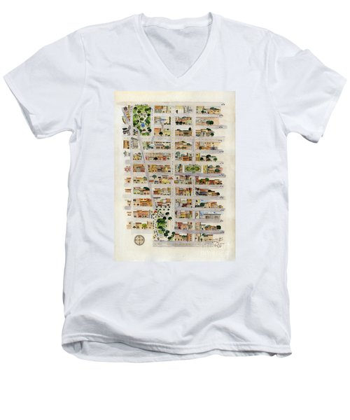 From Union Square To Madison Square Men's V-Neck T-Shirt by AFineLyne
