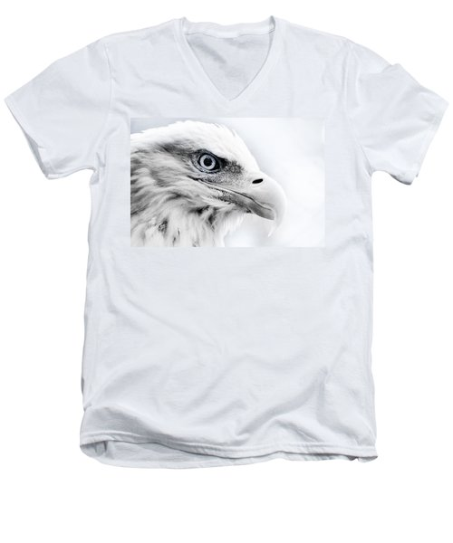 Frosty Eagle Men's V-Neck T-Shirt by Shane Holsclaw