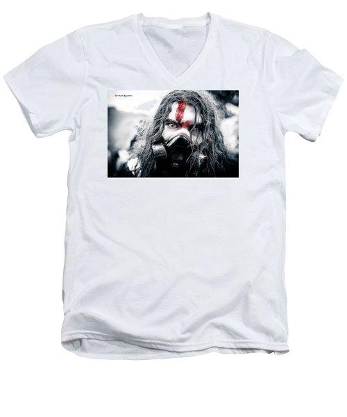 Men's V-Neck T-Shirt featuring the photograph Frozen Blood by Stwayne Keubrick