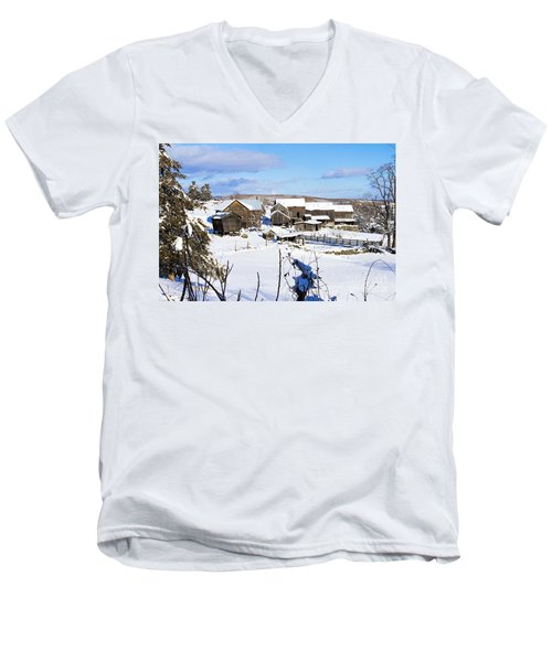 Frozen In Time Two In Color Men's V-Neck T-Shirt