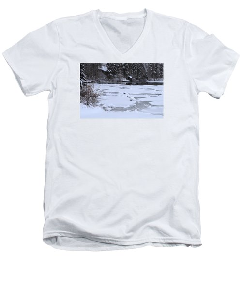 Frozen Silence  Men's V-Neck T-Shirt by Duncan Selby