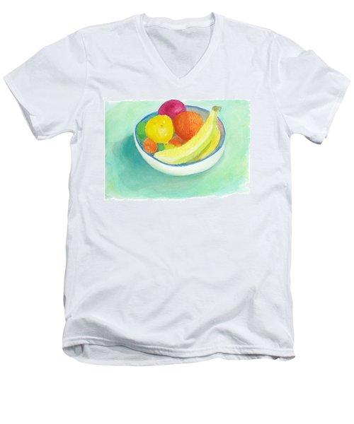 Fruit Bowl Men's V-Neck T-Shirt by C Sitton