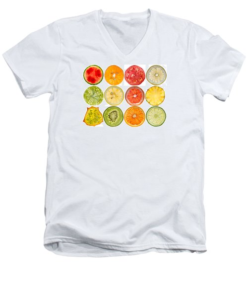 Fruit Market Men's V-Neck T-Shirt by Steve Gadomski