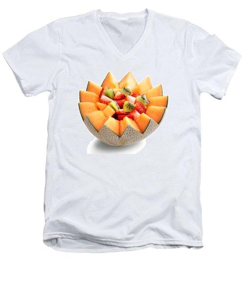 Fruit Salad Men's V-Neck T-Shirt by Johan Swanepoel