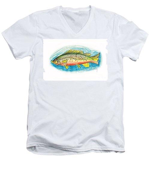 Funky Trout Men's V-Neck T-Shirt