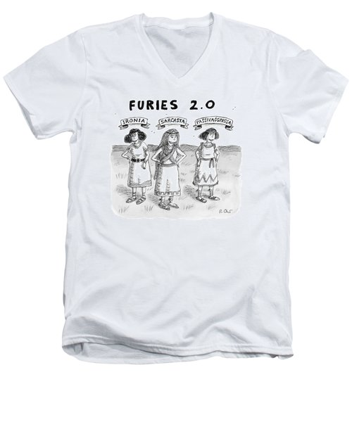 Furies 2.0 -- Ironia Men's V-Neck T-Shirt