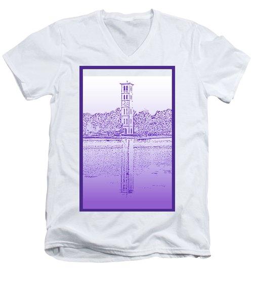 Furman Bell Tower Men's V-Neck T-Shirt
