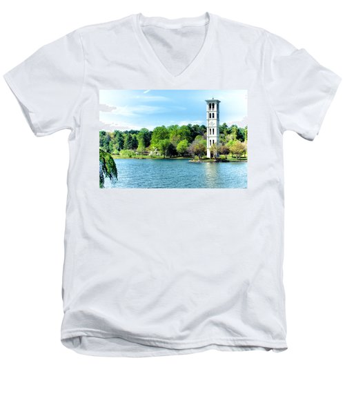 Furman Lake Men's V-Neck T-Shirt
