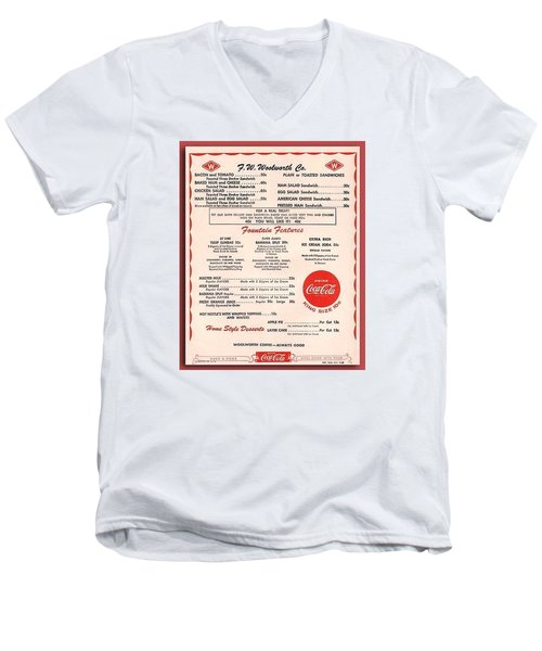 Fw Woolworth Lunch Counter Menu Men's V-Neck T-Shirt
