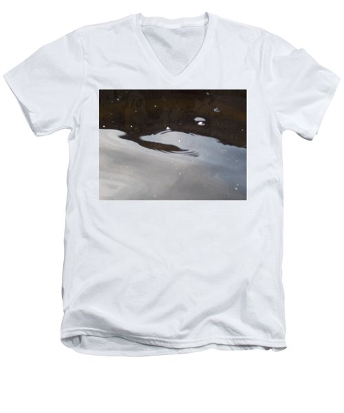 Men's V-Neck T-Shirt featuring the photograph Water In Space  by Deborah Moen