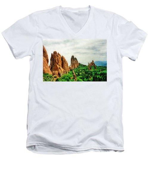 Garden Of The Gods Men's V-Neck T-Shirt