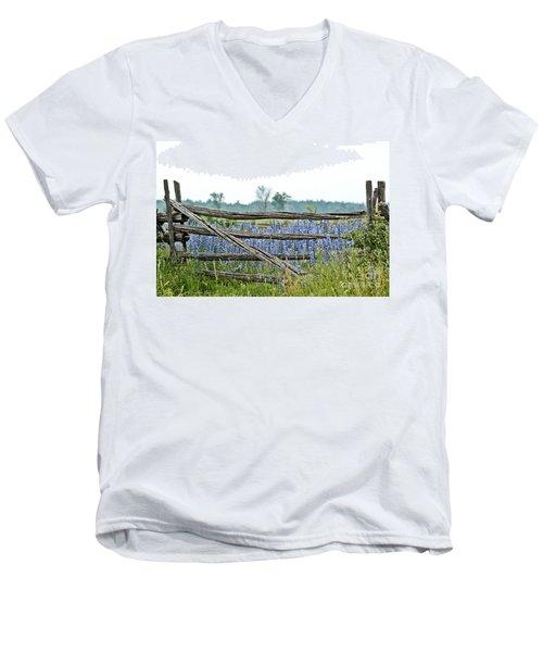 Gate To Blue Men's V-Neck T-Shirt by Cheryl Baxter