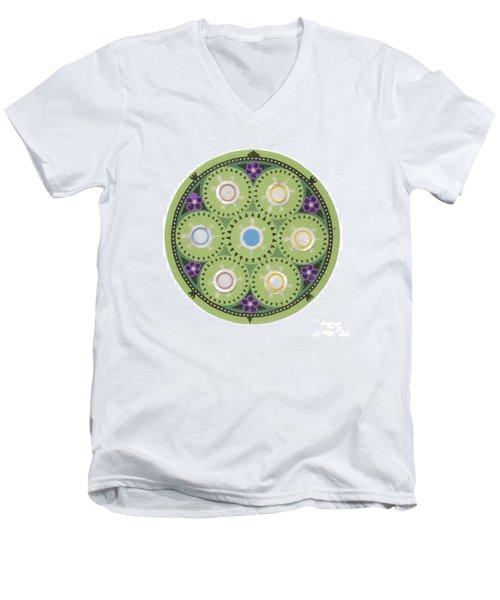 Cradleboard Beadwork Men's V-Neck T-Shirt