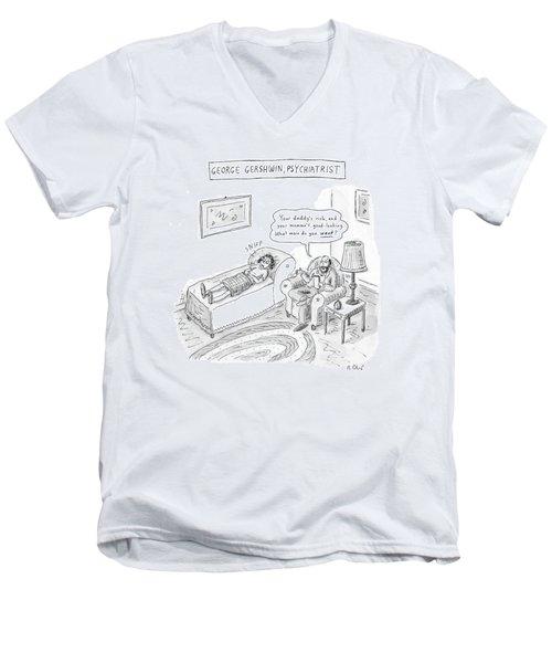 'george Gershwin Men's V-Neck T-Shirt