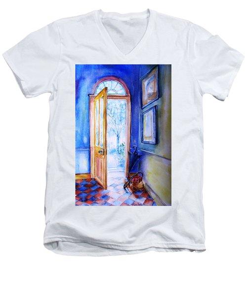 Winter Doorway Ireland    Men's V-Neck T-Shirt by Trudi Doyle
