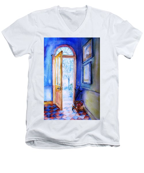 Winter Doorway Ireland    Men's V-Neck T-Shirt