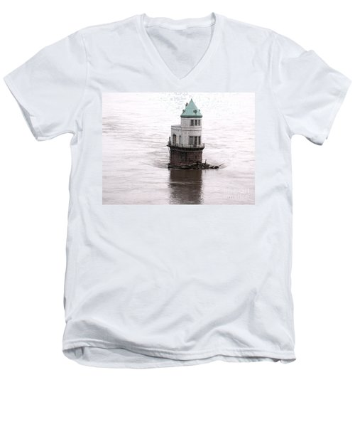 Men's V-Neck T-Shirt featuring the photograph Ghost In The Window by Kelly Awad
