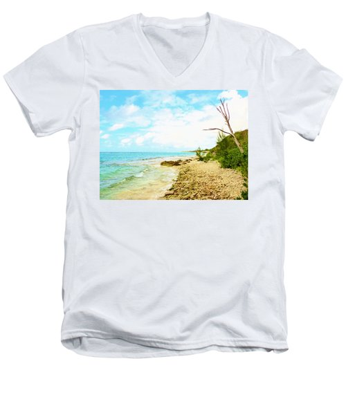 Men's V-Neck T-Shirt featuring the photograph Ghost Tree by Amar Sheow