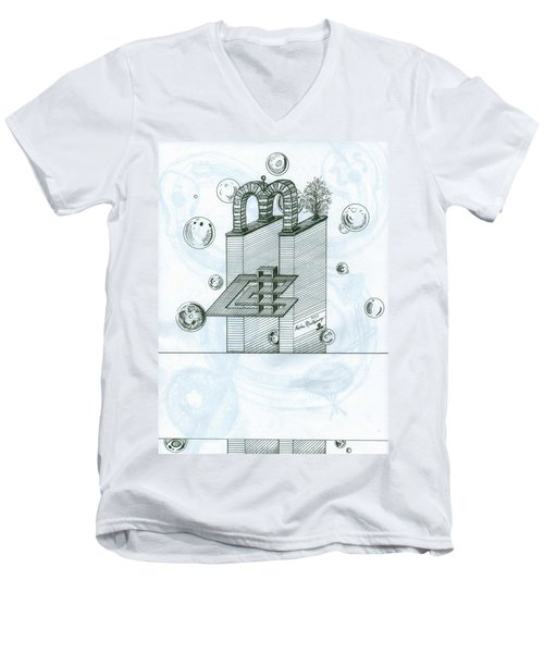 Ghostly Music 1 Men's V-Neck T-Shirt