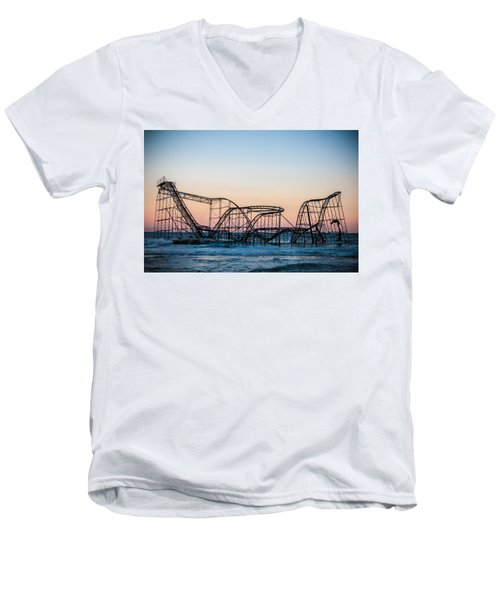 Men's V-Neck T-Shirt featuring the photograph Giant Of The Sea by Kristopher Schoenleber